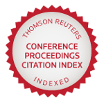 Indexed in the Thomson Reuters Conference Proceedings Citation Index